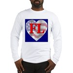 Love FL Flag Heart Long Sleeve T-Shirt
