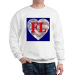 Love FL Flag Heart Sweatshirt