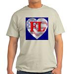 Love FL Flag Heart Ash Grey T-Shirt