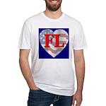 Love FL Flag Heart Fitted T-Shirt