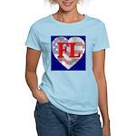 Love FL Flag Heart Women's Pink T-Shirt