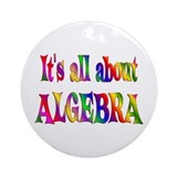 About Algebra Ornament (Round)