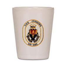 USS CUSHING Shot Glass