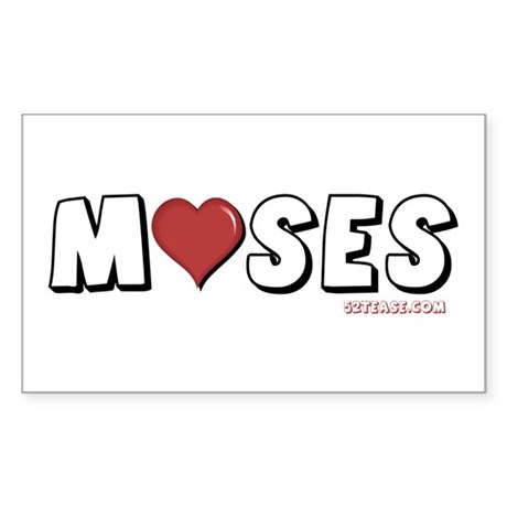 I Love (Heart) Moses Rectangle Sticker