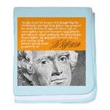 THOMAS JEFFERSON baby blanket