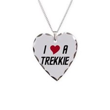 I Luv (heart) A Trekkie Necklace