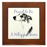 Whippet 2 Framed Tile
