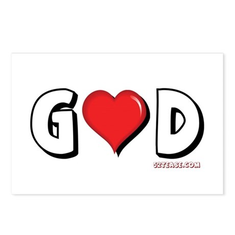 God is Love Postcards (Package of 8)