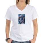 Lightning Thoughts Women's V-Neck T-Shirt
