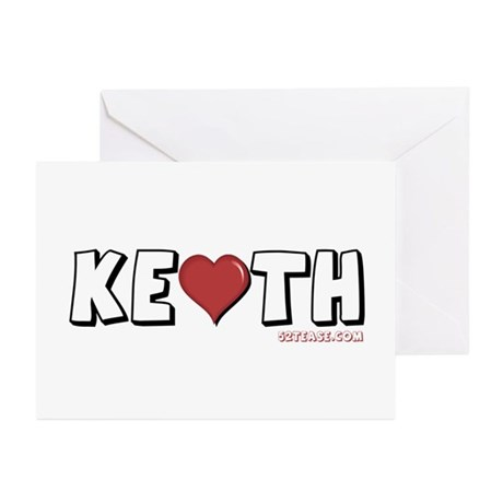 I Heart (Love) Keith Greeting Cards (Pk of 10)