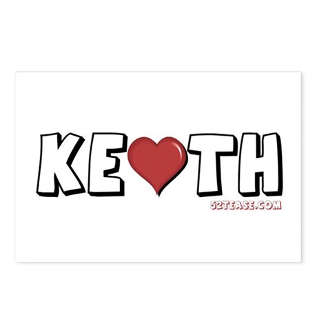 I Heart (Love) Keith Postcards (Package of 8)