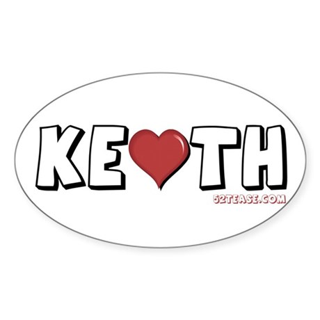 I Heart (Love) Keith Oval Sticker