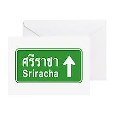 Sriracha Highway Sign Greeting Card