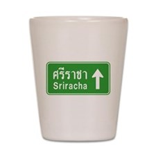 Sriracha Highway Sign Shot Glass