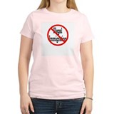 No Illegal Immigration Women's Pink T-Shirt