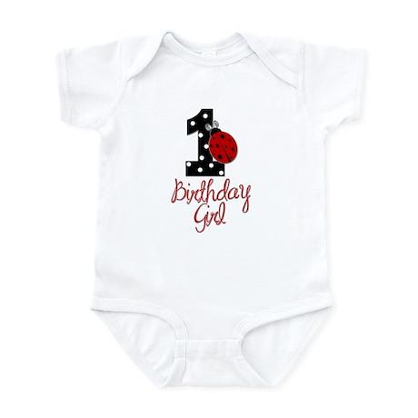 Birthday Girl - LADYBUG 1 Infant Bodysuit