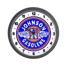 Johnson Gasolene Wall Clock