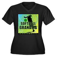 2011 Softball 120 Women's Plus Size V-Neck Dark T-