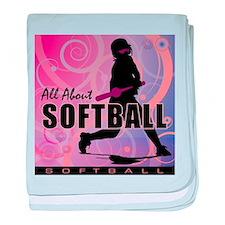 2011 Softball 107 baby blanket