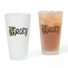 Brady Celtic Dragon Drinking Glass