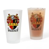 Broderick Coat of Arms Drinking Glass