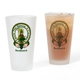Broderick Clan Motto Drinking Glass