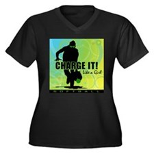 2011 Softball 42 Women's Plus Size V-Neck Dark T-S