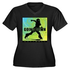 2011 Softball 27 Women's Plus Size V-Neck Dark T-S