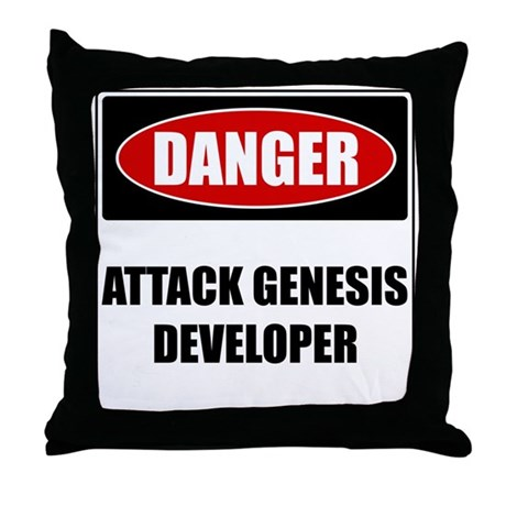 ATTACK GENESIS DEVELOPER Throw Pillow