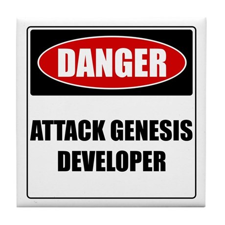 ATTACK GENESIS DEVELOPER Tile Coaster