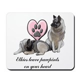 Elkie Pawprints Mousepad
