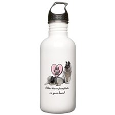 Elkie Pawprints Water Bottle