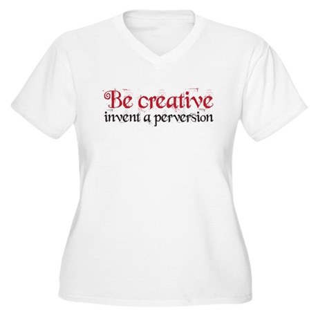 Be Creative Women's Plus Size V-Neck T-Shirt
