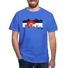 Denver, Colorado Flag Distressed T-Shirt