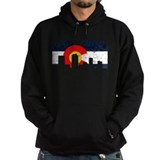 Denver, Colorado Flag Distressed Hoody