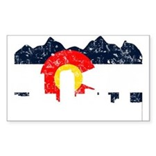 Denver, Colorado Flag Distressed Decal
