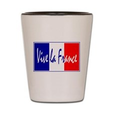 French Flag Vive La France Shot Glass