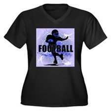 2011 Football 5 Women's Plus Size V-Neck Dark T-Sh