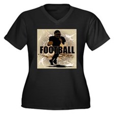2011 Football 1 Women's Plus Size V-Neck Dark T-Sh