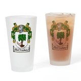McCluskey Coat of Arms Drinking Glass
