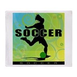 2011 Girls Soccer 1 Throw Blanket