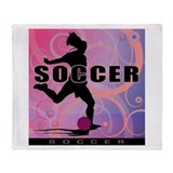 2011 Girls Soccer 2 Throw Blanket