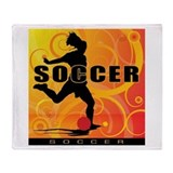 2011 Girls Soccer 3 Throw Blanket