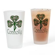 Connolly Shamrock Drinking Glass