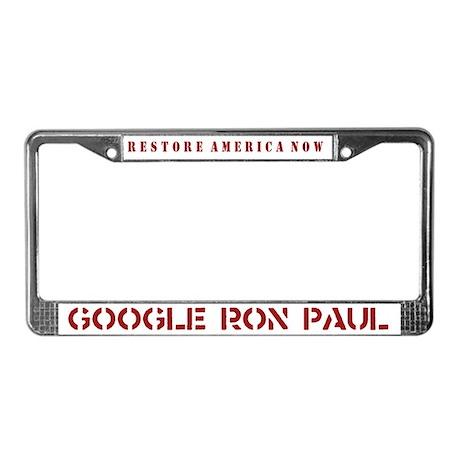 Google Ron Paul License Plate Frame