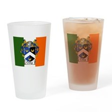 Craig Arms Irish Flag Drinking Glass