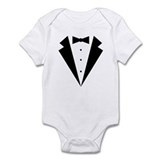 Minimalist Funny Tuxedo Infant Bodysuit