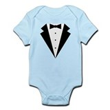 Minimalist Funny Tuxedo Onesie