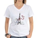 Princess Smartypants Women's V-Neck T-Shirt