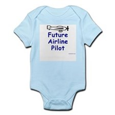 Future Airline Pilot II Infant Creeper